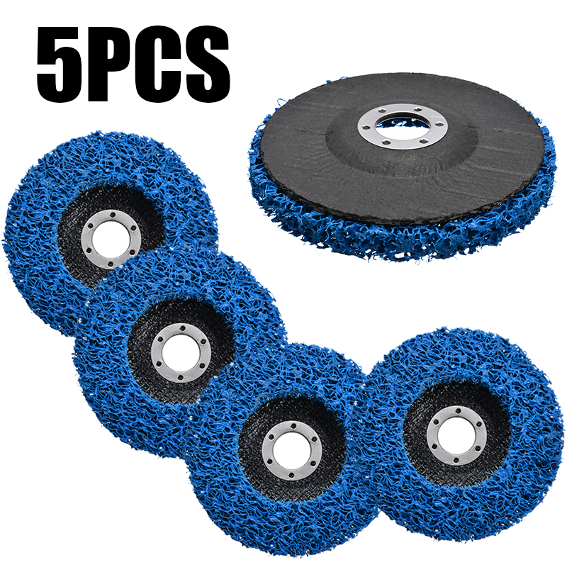 5Pcs 125mm Poly Strip Disc Abrasive Wheel Paint Rust Removal Clean For Angle Grinder Grinding Wheel Accesssories