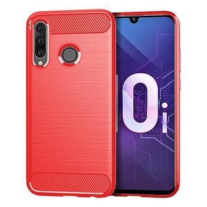 Image 2 - Caso de alta calidad para Huawei Y9 2018 2019 caso de lujo del TPU de fibra de carbono de silicona suave para cubrir Huawei Y9 2018, 2019