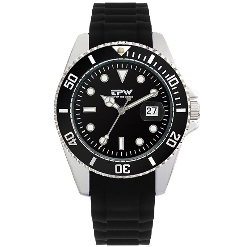 2019 Men Watch Top Brand Silicone Rubber Strap Business Calendar Quartz Watch Men Luxury Watch  Relogio Masculino Gift For Men