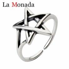 цена на Simple 925 Thai Silver Hot Popular New Fashion Jewelry Hollow Star Beautiful Temperament Opening Ring