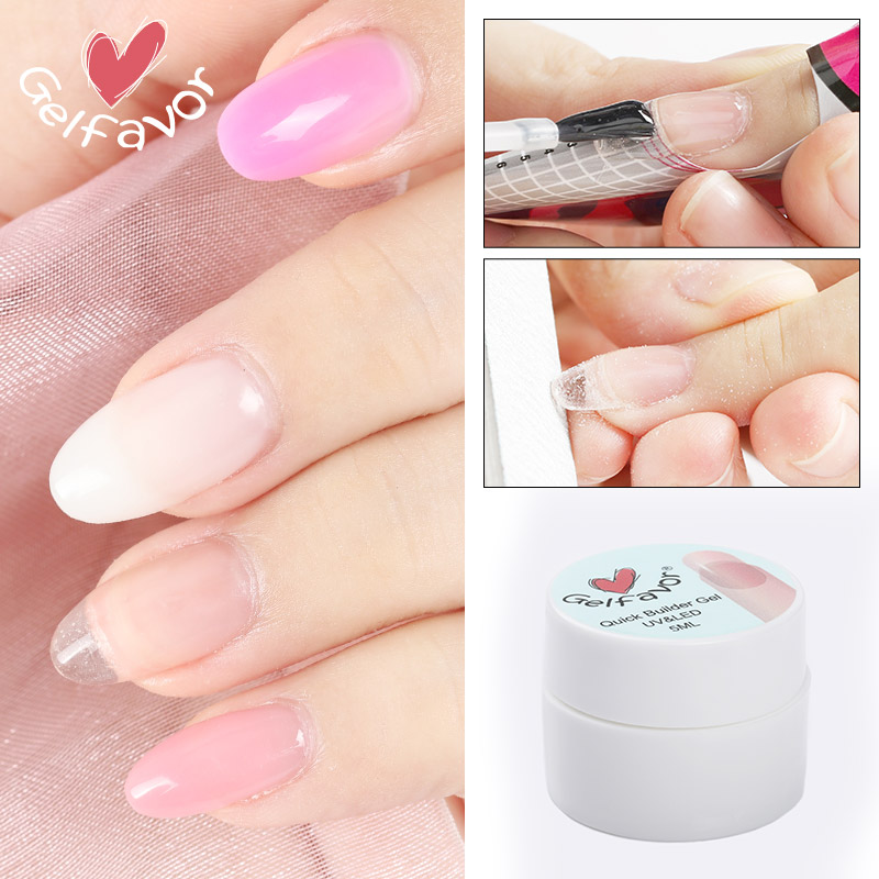 Gelfavor Gel For Nails Extension Builder Poly Gel Manicure Set Primer Base Top Semi Permanent UV Nail Gel Polish PolyGel