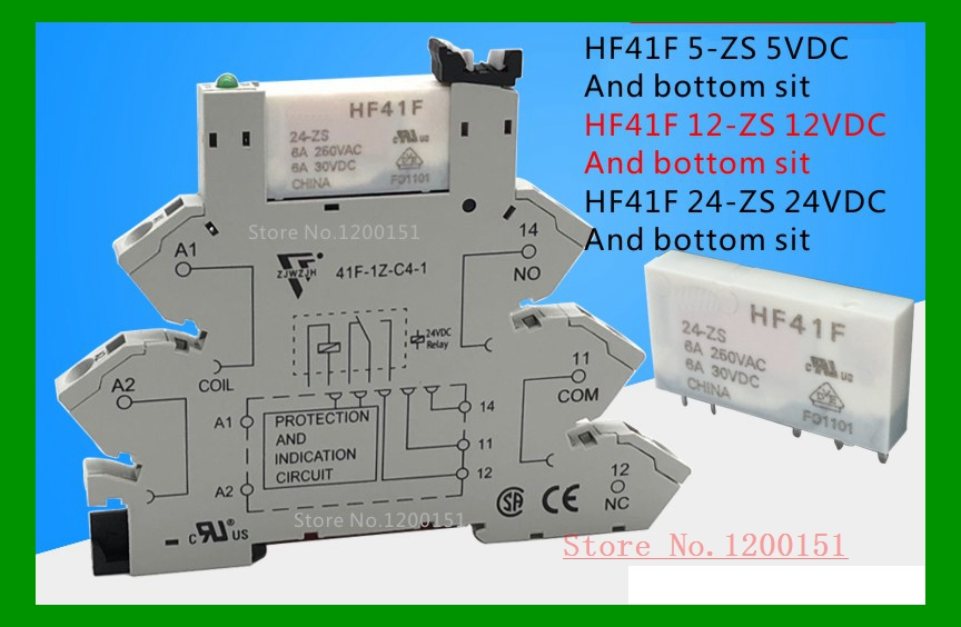 HF41F 5-ZS 12-ZS 24-ZS And The Base 6A 5V 12V 24V Rela DIP-5