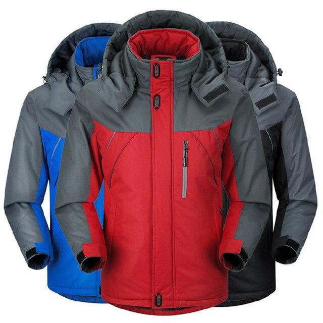 Winter Parka Men Plus Velvet Warm Windproof Coats Mens Military Hooded Jackets Casaco Masculino Casacos Mens Outwear Overcoat