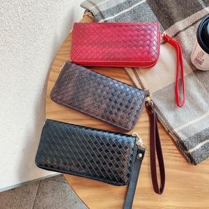 Image 1 - 高級地紋クラッチ4.0〜6.7サイズユニバーサル携帯財布Fhx 21T iphoneサムスンhuawei社xiaomi電話バッグ