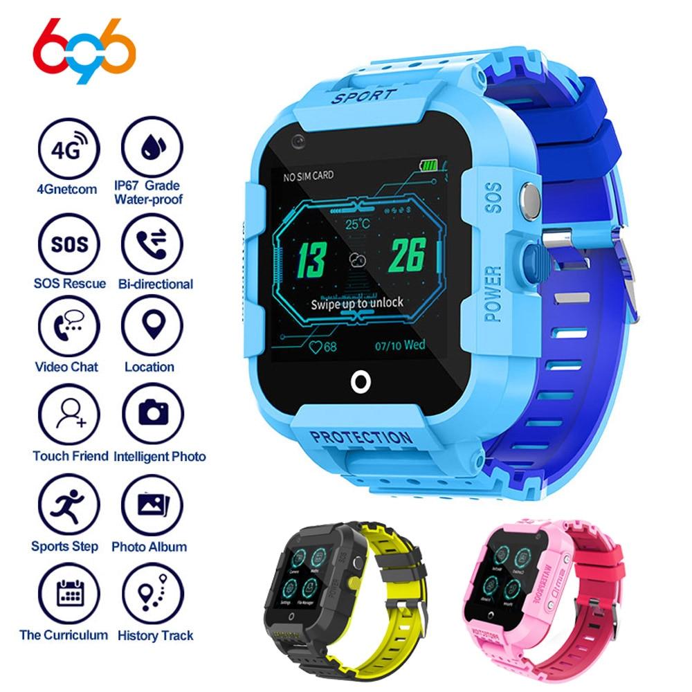 Tüketici Elektroniği'ten Akıllı Saatler'de 696 DF39Z çocuklar 4G GSM akıllı saat çağrı Video çağrı yardım için SOS acil çağrı LBS + GPS + WIFI çoklu konumlandırma çocuklar hediye izle title=
