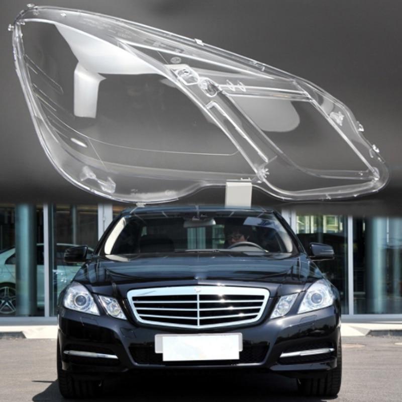 For Mercedes-Benz W212 E250 E350 E400 E500 Lamp Cover Headlight Cover Lense L+R