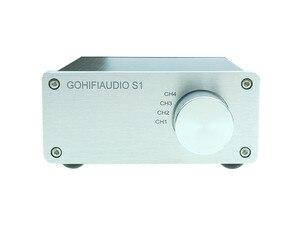 Image 3 - Répartiteur de signal 4 en 1 sortie audio connecteur rca sélecteur de signal sélecteur de Source entrée HIFI commutateur de câble rca boîtier schalter