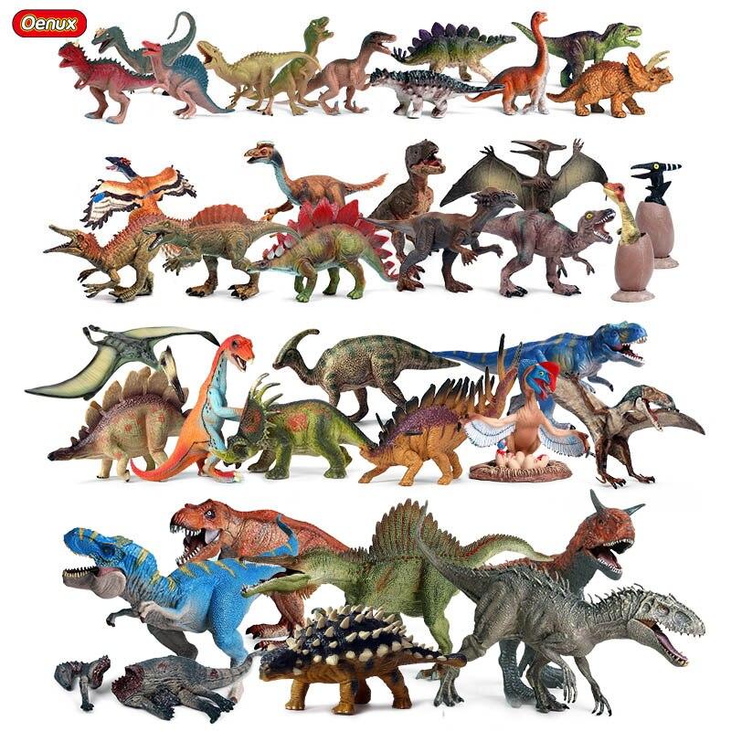 Oenux dinosaures parc du monde figurines jurassique Indominus Rex ptérosaure stegosaure animaux modèle PVC Collection enfant jouet cadeau