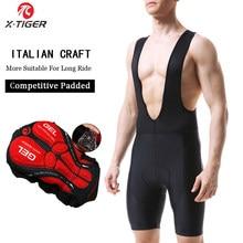 X-TIGER pantalones cortos negros para ciclismo, 5D Coolmax con almohadilla de gel, shorts para ciclismo