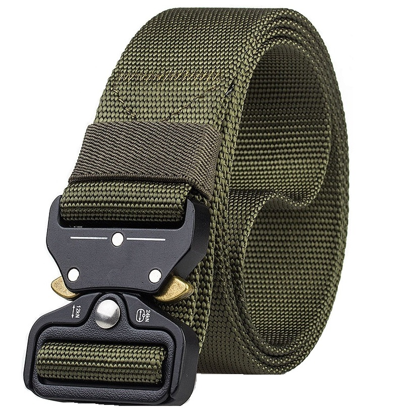 Tactical Belt Men Adjustable Quick-releasing Nylon Belt Military Army Waist Belts With Metal Buckle Outdoor Hunting Accessories