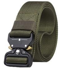 купить Tactical Belt Men Adjustable Quick-releasing Nylon Belt Military Army Waist Belts With Metal Buckle Outdoor Hunting Accessories дешево