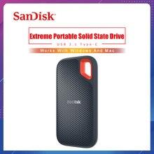 SanDisk Extreme Tragbare SSD 1TB 500GB 550M Externe Festplatte SSD USB 3,1 HD SSD Festplatte 250GB Solid State Disk für Laptop