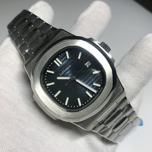 luxury brand watch PP men automatic blue dial sports watches stainless steel luminous hand patk watch AAA nautilus цена и фото