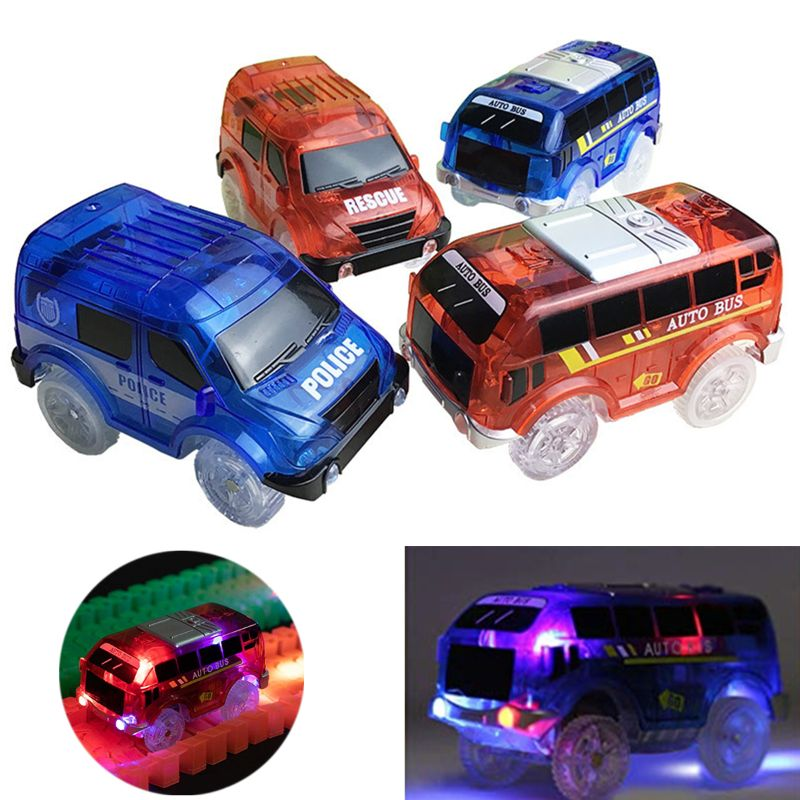 Light Up Toy Car Track Accessories Racing Car with <font><b>5</b></font> Flashing LED Lights Compatible with Most Tracks image
