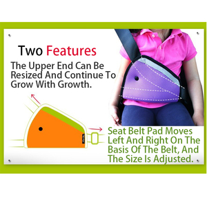 Image 5 - 1pcs ילד חגורת בטיחות כרית אביזרי רכב קישוט לוח מחוונים תליית תליון ילד הגנה משולשת מחזיק מושב תומך