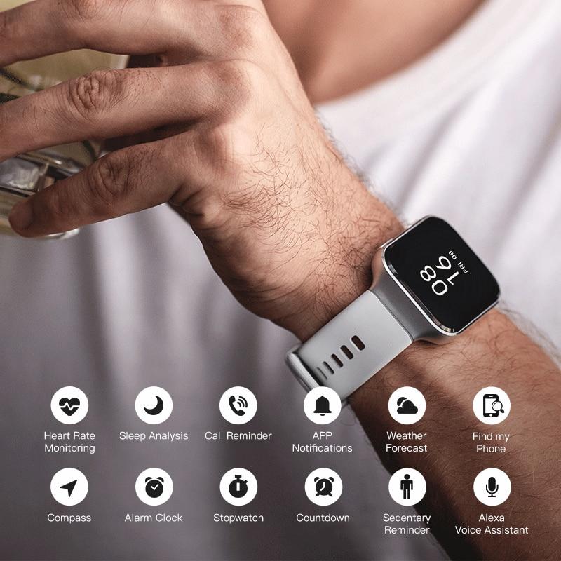 70mai Smart Watch 70mai Saphir Watch Bluetooth GPS Sport Heart Rate Monitor 5ATM Resistance Call Reminder 70mai Smartwatch APP 5