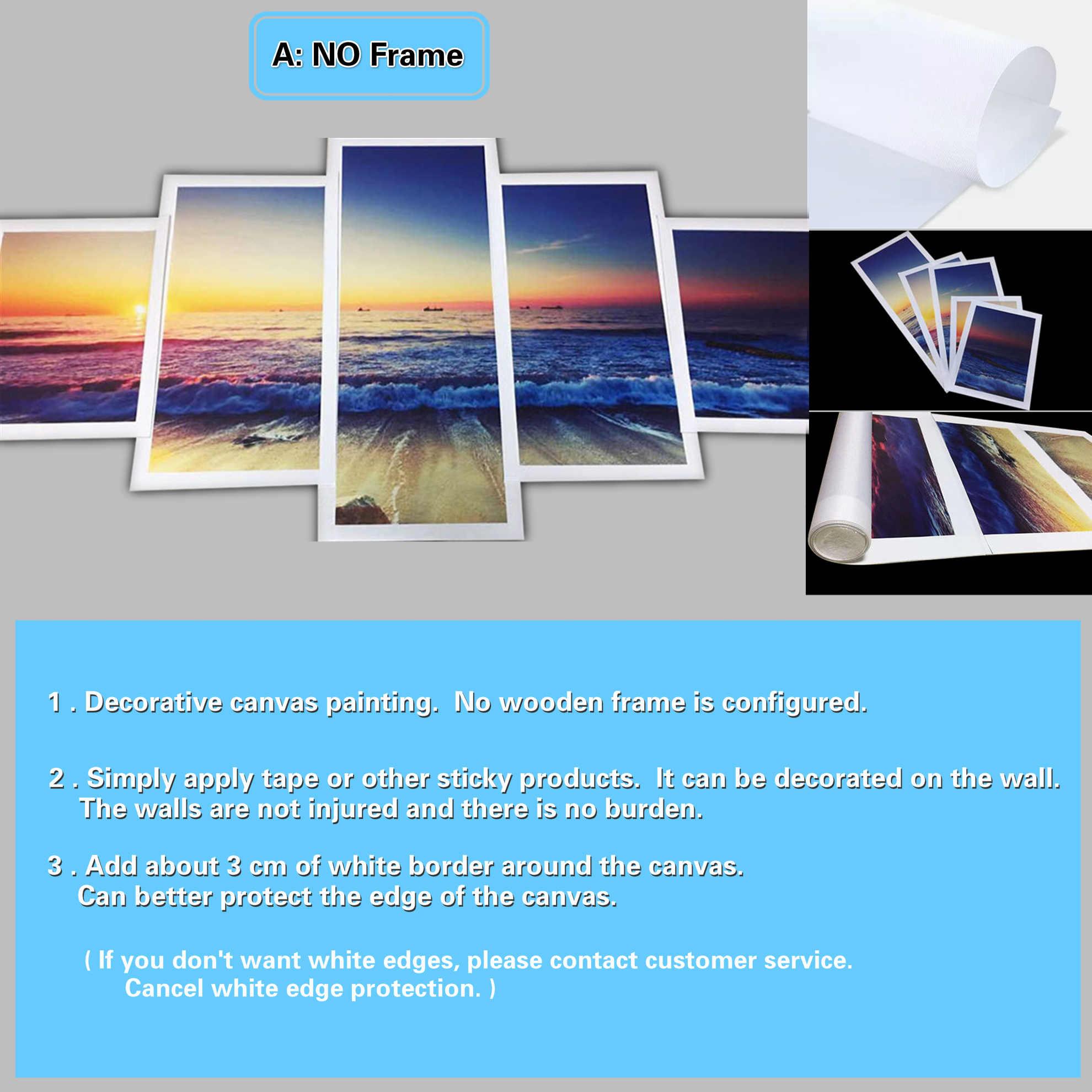 Настенная краска, художественная картина, Краска на холсте для гостиной, Ностальгический плакат с пивом, 5 панелей, холст, настенное искусство