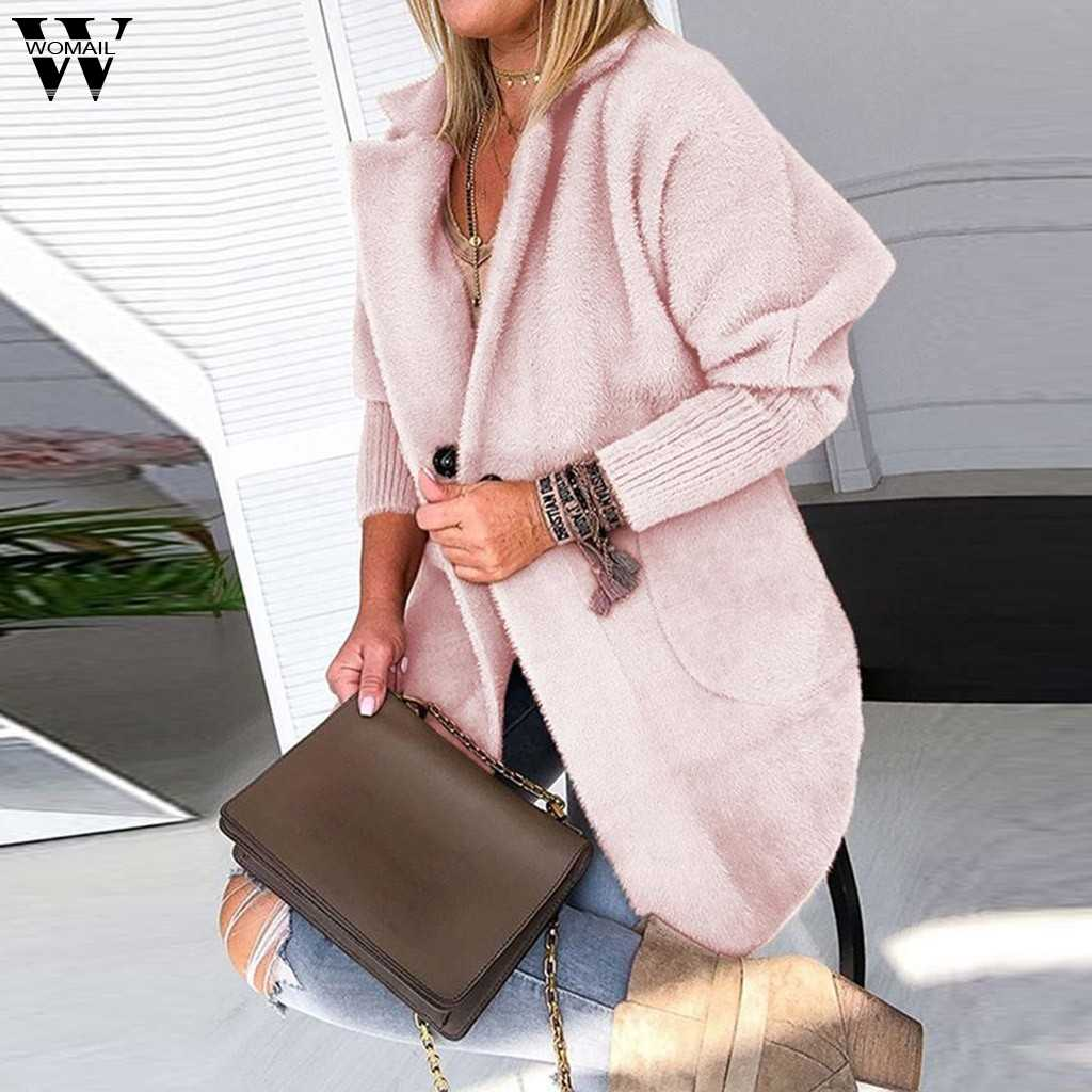 Womail Womens Jassen Womens Dames Warme Jas Jas Revers Winter Lange Bovenkleding Tops Jas vrouwen 2019 S-XL