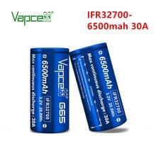 Vapcell – batterie rechargeable pour lampe de poche/outils électriques, IFR 32700, 6500 mah, 30a, Lifepo4, 3.2V, livraison gratuite