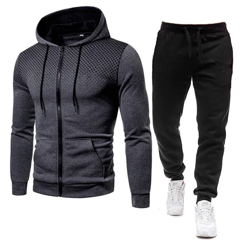 Conjunto de chándal de poliéster para hombre, ropa deportiva de 2 piezas, sudaderas y pantalones informales, sudaderas estampadas en 3D, novedad de Otoño de 2021