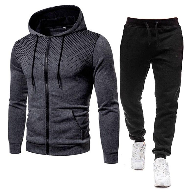 Спортивный костюм мужской из 2 предметов, повседневная кофта и штаны, толстовка с 3D принтом, полиэстер, осень 2021