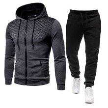 Set Tracksuit Male Polyester 2021 New Autumn 2 Piece Sportwear Set Men Clothing Casual Sweatshirts + Pants 3D Printed Hoodies