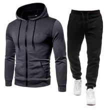 Set eşofman erkek Polyester 2021 yeni sonbahar 2 adet spor giyim seti erkek giyim rahat tişörtü + pantolon 3D baskılı Hoodies