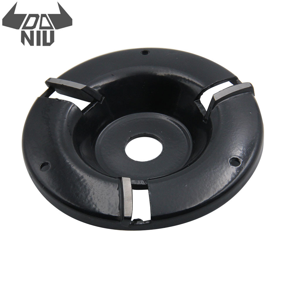 DANIU 4 Inch Power Wood  Carving Disc Woodworking Turbo Plane Milling Cutter For 16mm Aperture Angle Grinder Attachment Tool