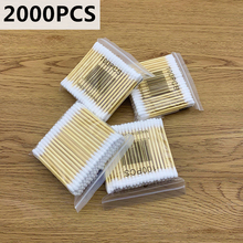 2000pcs/Pack Double Head Cotton Swab Bamboo Cotton Buds Medical Ear Cleaning Wood Sticks Cotton Swabs Beauty Makeup Dropshipping