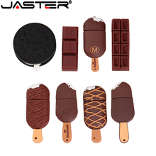 JASTER Cartoon Koekjes Modell Ijs Chocolade Usb 2,0 4 Gb 8 Gb 16 Gb 32 Gb 64 Gb Pen Drive USB-Stick Creatieve Giftypendrive