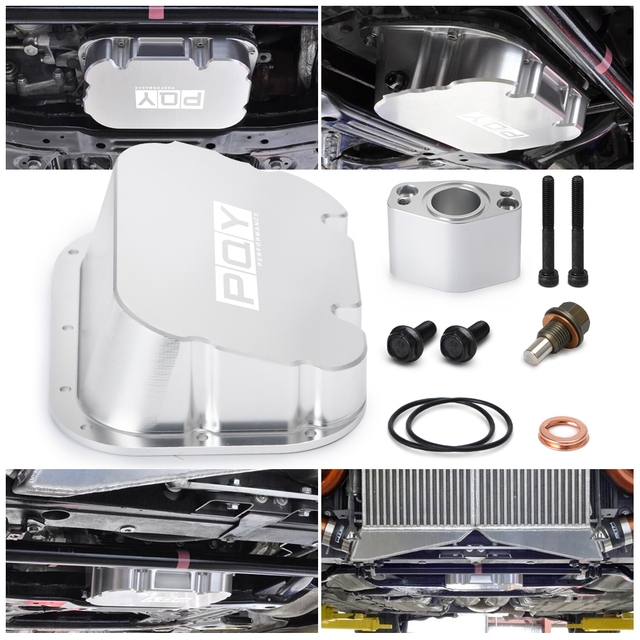 CNC Aluminum Engine Oil Pan For 09-on Nissan R35 GT-R VR38 CBA DBA LHD&RHD Deep Wet Sump Oil pickup extension 1.5+ Oil Capacity 6
