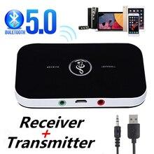 2020 Bluetooth 5.0 nadajnik dźwięku odbiornik Stereo Adapter bezprzewodowy 3.5mm 3.5 AUX Jack RCA klucz USB do słuchawek samochodowych PC TV
