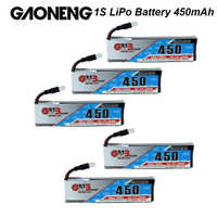 Gaoneng 3,7 V 3,8 V 450mAh 1S 80C 160C Lipo batería recargable de la batería conector blanco para RC FPV Racing Cine Whoop BetaFPV Drone