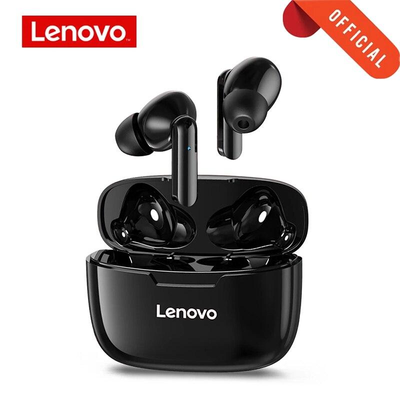 Lenovo xt90 fone de ouvido sem fio bluetooth 5.0 esportes botão toque ipx5 à prova dipágua com 300mah caixa carregamento