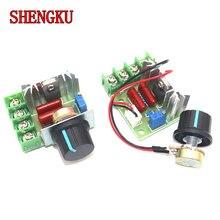 Regulador de tensão ac 220v 2000w regulador de potência scr escurecimento dimmers controlador de velocidade do motor termostato módulo eletrônico