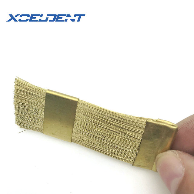 1Pc Dental Nail Drill Bits Cleaning Brush Copper Wire Brushes For Electric Manicure Brusher 2