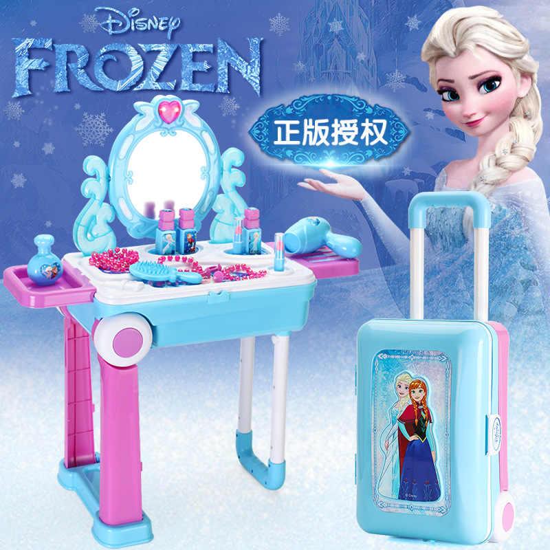 disney table de jeu enfant fille princesse reine des neiges commode jouet fille coiffeuse valise coffret cadeau micky sophia elsa