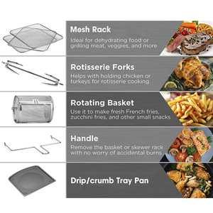 1700W 10L multifonction Smart friteuse poulet sans huile Air friteuse four sain alimentaire friteuse cuisinière tactile LCD électrique friteuse