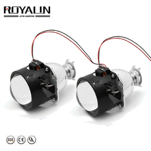 ROYALIN ثنائية زينون HID H1 جهاز عرض صغير عدسة 2.5 مصباح السيارة الأمامي الهالوجين عدسة مرحبا/لو شعاع ل H4 H7 سيارة التصميم لمبة التحديثية DIY بها بنفسك