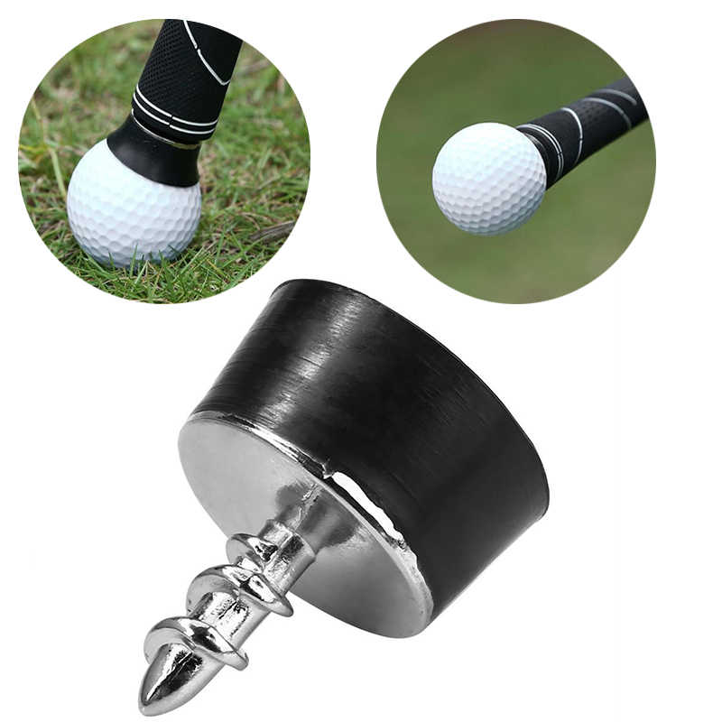 Golfbal Pick Up Putter Grip Retriever Tool Mini Rubber Zuignap Pickup Schroef Golf Training Aids Sucker Tool Golf accessoire