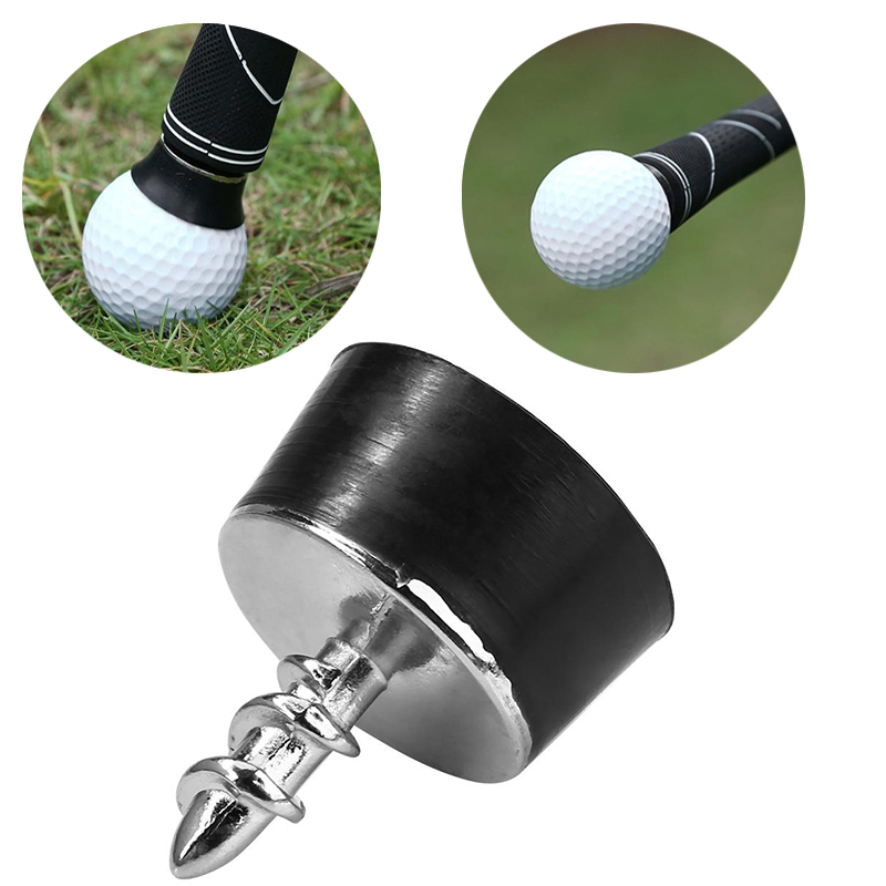 Golf Ball Pick Up Putter Grip Retriever Tool Mini Rubber Suction Cup Pickup Screw Golf Training Aids Sucker Tool Golf Accessory