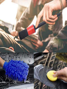 Detailing-Brush-Set Air-Vents Interior Cleaning Car Motorcycle for 13pcs