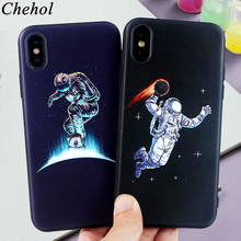 Fashion Mobile Phone Case for IPhone X XS MAX XR 8 7 6s Plus Cases Space Astronaut Soft Silicone Fitted Back Covers Accessories