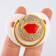 цена на Baby Bling Pacifier Red Kiss Lip Dummy Pacifiers Funny Silicone Baby Nipples Soothers Pacifier Baby Care