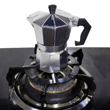 Soporte de aluminio portátil estufa reductora de Gas accesorios duraderos cafetera estante a fuego lento olla de cocina segura