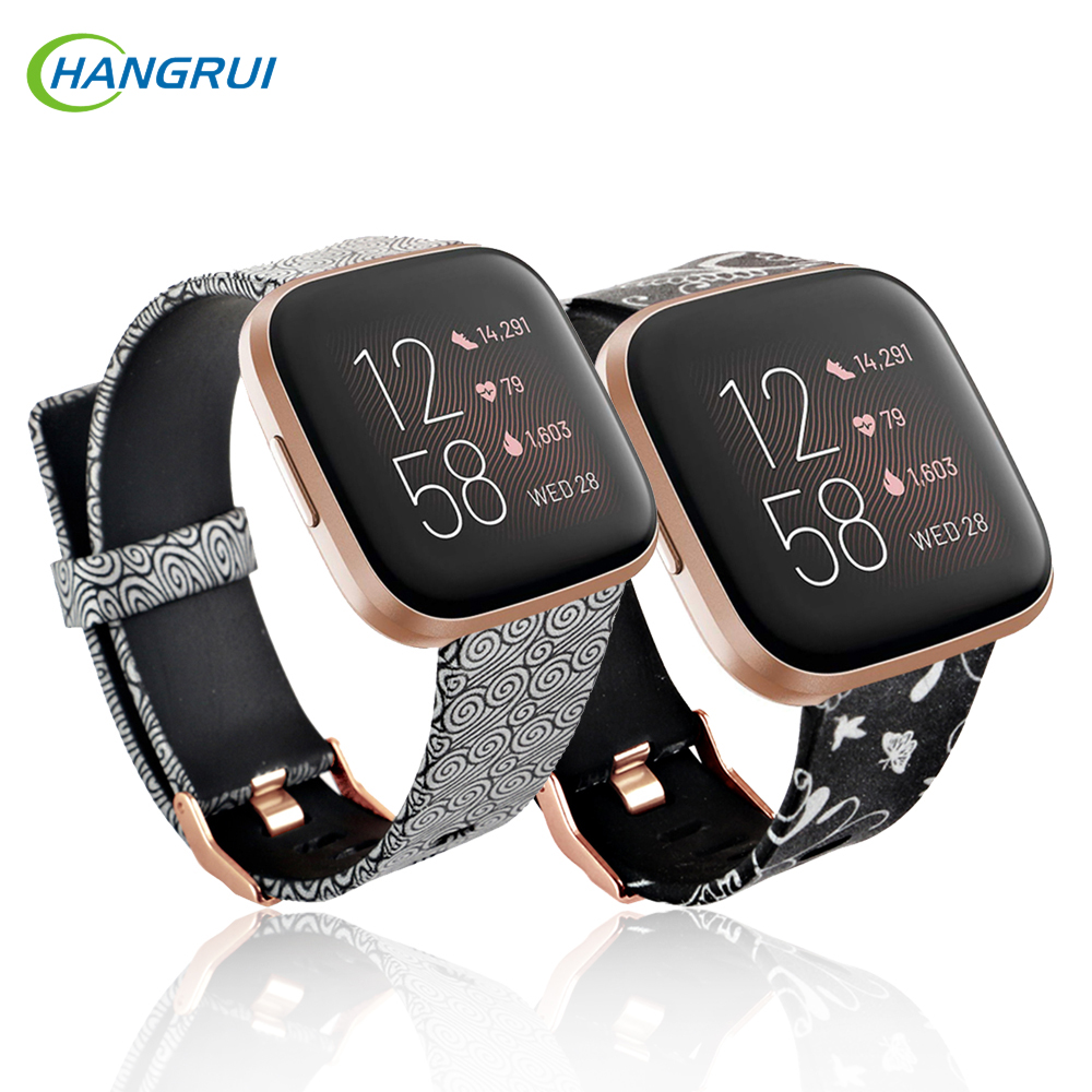 New Soft Print Flower Watch Band For Fitbit Versa 2/Versa Lite/Versa Wristband Bracelet For Fitbit Fit Bit Versa2 Silicone Strap