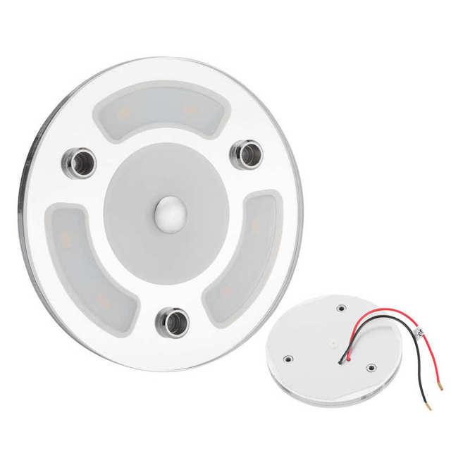 12V/24V Ceiling Light Interior LED Reading Lamp W/Dimmable Switch for RV/Caravan/Camper/Boat Mini Section New