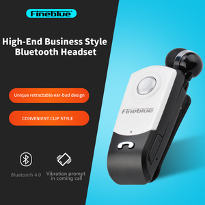 FineBlue F960 Mini Wireless Bluetooth Earphone V4.0 Headset Call Remind Vibration Wear Clip On Driving In-ear Earbuds Hands Free