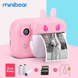 Minibear Kids Instant Camera For Children Print Camera 1080P Digital Camera For Kids Photo Camera Toy Birthday Gift For Girl Boy
