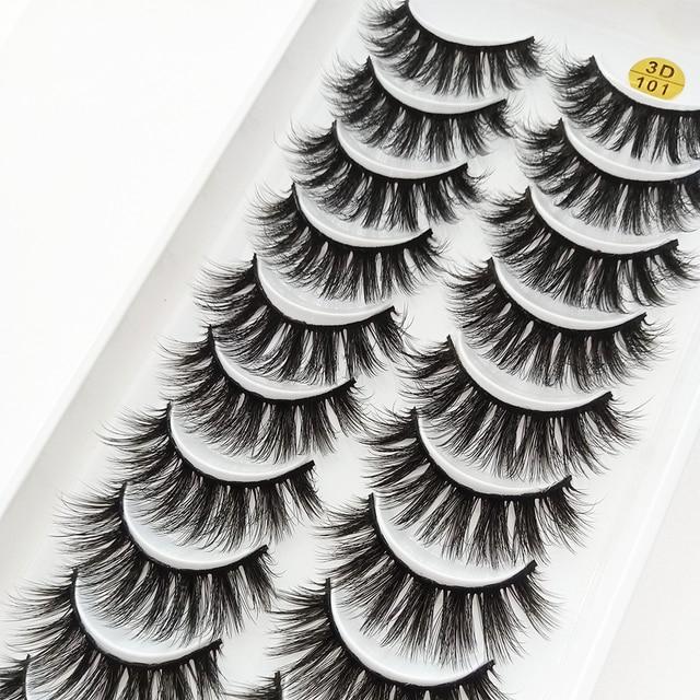 5/10/20Pairs 3D Mink Lashes Natural Mink False Eyelashes Dramatic Volume Fake Eyelash Extension Faux Cils Wholesale Makeup Tools 4